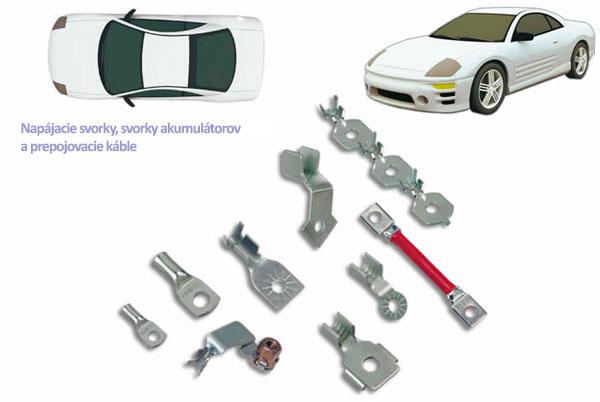 Svorky a spojovacie prvky pre utomobilový priemysel